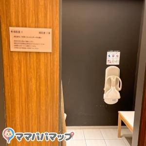 ベビーカーごと入れる授乳室は2部屋