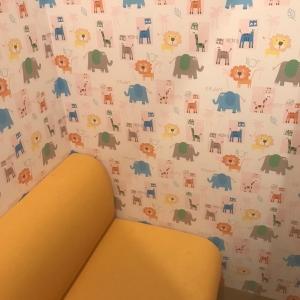 壁紙がかわいい!明るくて利用しやすい。