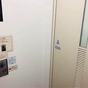 ボタン式の開閉扉です