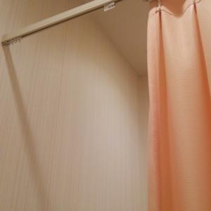 レールがあってもなぜかカーテンがないので完全に閉まらなく落ち着きません。