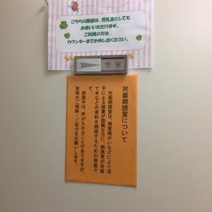 対面朗読室 ドアの貼り紙