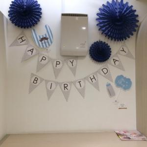 誕生日を祝える飾り付けがあったりします