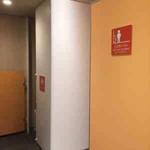 子供を連れて入れる大人用トイレが授乳室のすぐ近くに!