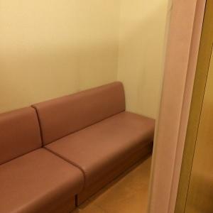 複数人数でも使用できそうな広いスペース。この手前にもカーテンなしですが休憩スペースありました。