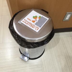 授乳室のゴミ箱(おむつを持ち帰るようには記載されていないです)