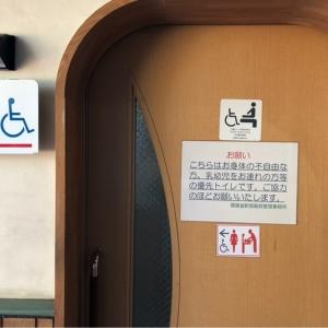 新宿御苑旧御涼亭横 トイレのオムツ替え台情報 画像2