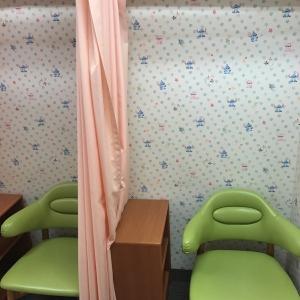 カーテンで仕切るタイプの個室