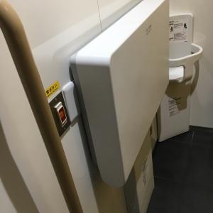 電気街改札前フードコート脇女子トイレの中にもオムツ替え台付きのトイレが出来てましたー!キレイです!
