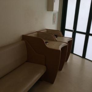 ガゼボにある授乳室&オムツ替え台