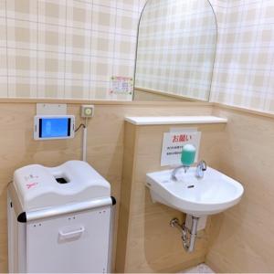 オムツ専用のゴミ箱手洗い場があります。