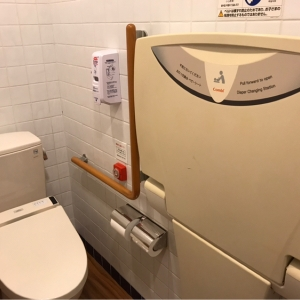 トイレ内のオムツ替え台