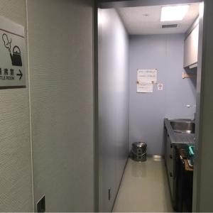 20階の湯沸室。Room for boiling water on the 20th floor.