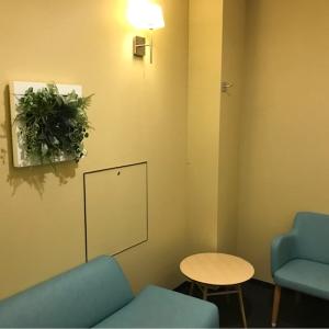 お手洗い入って右手に、オムツ替えスペースと授乳室があります。共同の授乳室でカーテンなどなく、扉を開けるといきなり写真の状態です。オムツ替えスペースから丸見えです。