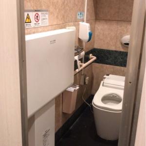 女子トイレの手前側の個室にひとつありました。