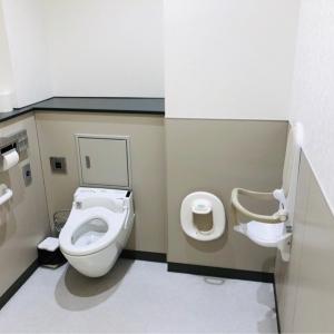 みどりの窓口の授乳室内にあるトイレ。