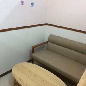大きめのソファとテーブルがあります