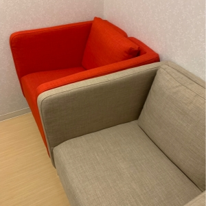 二つ広めのソファーがあります。