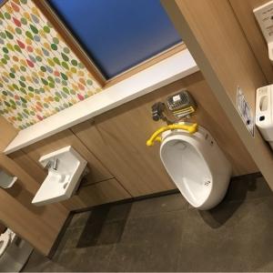 同フロアにある男性トイレにも女性トイレにも、子供用の便器完備。