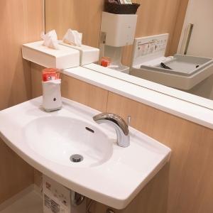 手洗いスペース、ハンドソープ有り(多目的トイレ内)