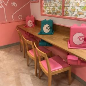 ここに座って離乳食を食べたりできます。