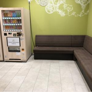 ベビールーム手前の自販機スペース