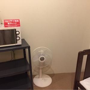 電子レンジ、扇風機があります