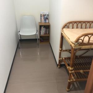 授乳室とオムツ台は同じ部屋にあります。