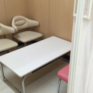 授乳室内には椅子が3脚とテーブルがありました。