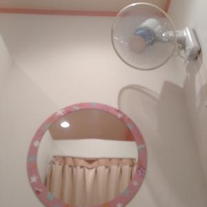 個室の授乳室には扇風機がついています