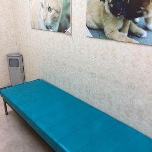 授乳室内の長椅子