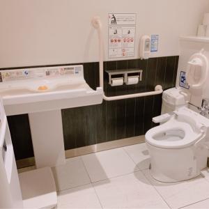 女性用トイレ奥 おむつ台