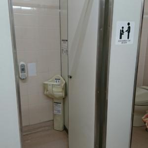 2室ある女性トイレ個室、それぞれに、チャイルドチェアが設置されていました。