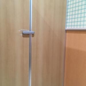 扉はトイレと一緒