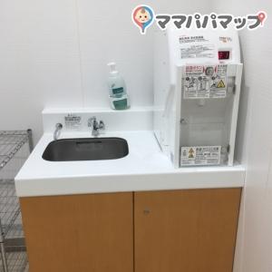 手洗い場、お湯の出る機械