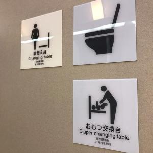 外のトイレ内です