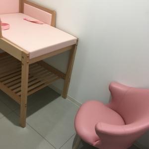2階 授乳室 オムツ交換台あり