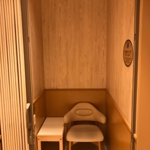 授乳室入って右手の個室