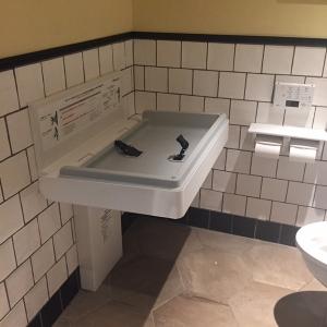 女性用トイレ内にあります
