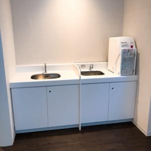 手洗い場と調乳用のお湯設備