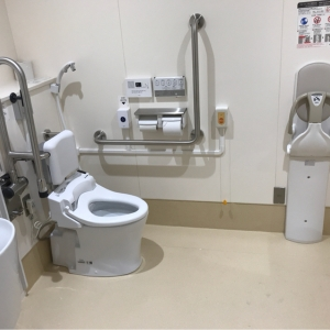 中野区 東部地域事務所 多目的トイレ(2F)のオムツ替え台情報 画像2