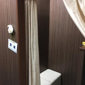 カーテン仕切りの授乳室が2つ。ベビールーム入り口にドアはなく、パパも入れるのでカーテンだけで少し不安かも。