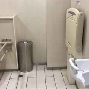 3階ニトリ横 多目的トイレ 抱っこ紐取り外してお手洗いに行けます