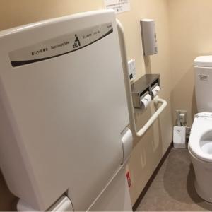 多目的トイレにおむつ交換台あり