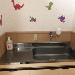 手洗い場。水のみ