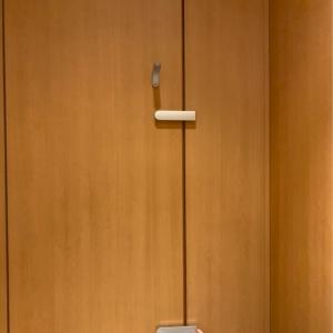 女性用トイレ個室の鍵は2箇所ありました