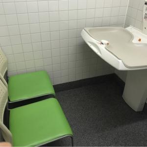 オムツ替えシートと授乳用の椅子