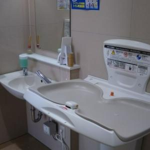 ウエルシア 益子町役場前店(多目的トイレ)のオムツ替え台情報 画像1