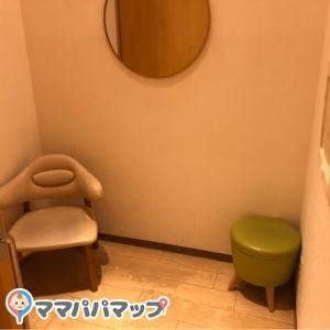 ベビーカーも同室出来る広々した鍵付きの個室×2
