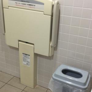 ポールスターショッピングセンター((2階ヨガスタジオ側多目的トイレ内))のオムツ替え台情報 画像3