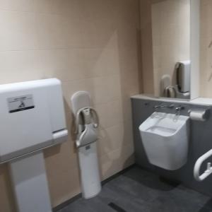 多目的トイレもおむつ交換台がありました。